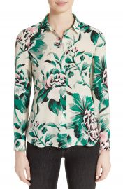 Burberry Aster Peony Rose Print Silk Shirt at Nordstrom
