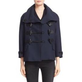 Burberry Brit  Craysmoore  Toggle Closure Short Gabardine Peacoat ink at Nordstrom