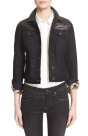 Burberry Brit Leather   Denim Jacket at Nordstrom