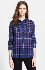 Burberry Brit Plaid Cotton Shirt at Nordstrom