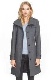 Burberry Brit Rushfield Wool Blend Single Breasted Coat at Nordstrom