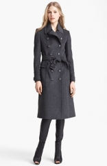 Burberry Brit Sheeran Wool andamp Cashmere Trench Coat at Nordstrom