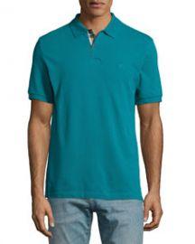 Burberry Brit Short-Sleeve Pique Polo Shirt Dark Teal at Neiman Marcus