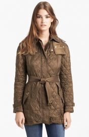 Burberry Brit and39Finsbridgeand39 Belted Quilted Jacket at Nordstrom
