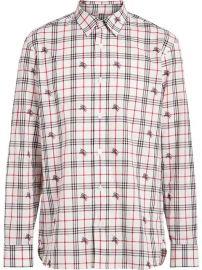 Burberry Fil Coup   Check Cotton Shirt - Farfetch at Farfetch