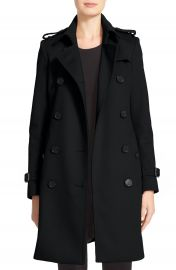 Burberry Kensington Double Breasted Wool  amp  Cashmere Trench Coat at Nordstrom