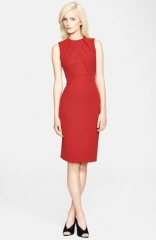Burberry London Drape Front Mulberry Silk Dress at Nordstrom