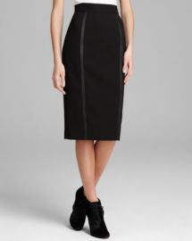 Burberry London Skirt - Pencil with Black Zipper Detail at Bloomingdales