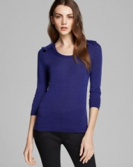 Burberry London Sweater - Bow Shoulder at Bloomingdales