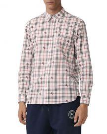 0355a61e1 Burberry Men x27 s Edward Signature Check Sport Shirt at Neiman Marcus