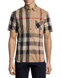 Burberry Thornaby Short-Sleeve Check Sport Shirt at Neiman Marcus