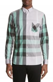Burberry Thornaby Slim Fit Plaid Sportshirt at Nordstrom