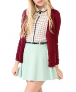 Burgundy cardigan from Forever 21 at Forever 21