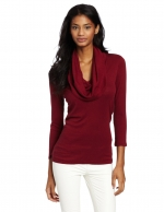 Burgundy cowl neck top like Lilys at Amazon