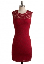 Burgundy lace dress from Modcloth at Modcloth
