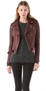 Burgundy leather jacket like Emmas at Shopbop