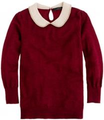 Burgundy peter pan collar sweater at J. Crew