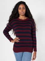 Burgundy striped sweater from American Apparel at American Apparel