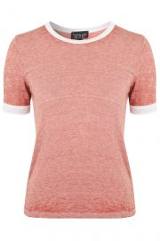 Burnout Contrast Tee at Topshop