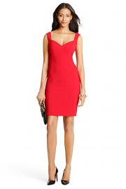 Bustier Ceramic Sheath Dress at DvF