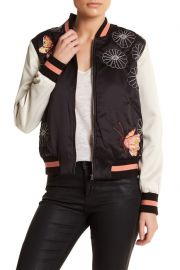 Butterfly Bomber Jacket by Max Studio at Nordstrom Rack