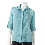 Butterfly Chiffon blouse by LC Lauren Conrad at Kohls