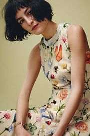 Butterfly Garden Midi Dress at Anthropologie