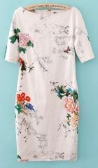 Butterfly print dress at She Inside