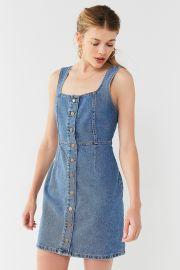 Button-Down Denim Mini Dress at Urban Outfitters