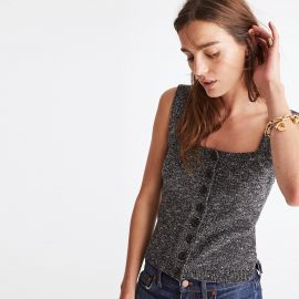 Button-Front Sweater Tank by Madewell at MadeWell