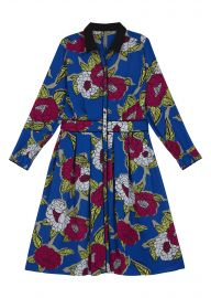 Button Pleat Floral Dress at Melissa McCarthy