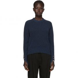 Button Sleeve Wool Sweater by 3.1 Phillip Lim at Ssense