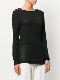 Button-embellished Sweater by Balmain at Farfetch