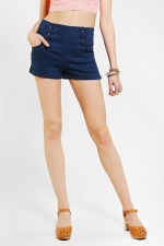 Button front shorts at Urban Outifitters at Urban Outfitters