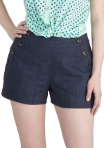 Button front shorts like Daphnes at Modcloth
