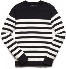 Buttoned stripe sweater at Forever 21