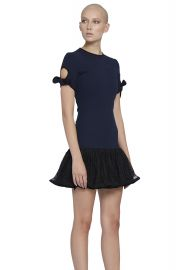 By Johnny The Belinda Tie Sleeve Tee Mini Dress at By Johnny.