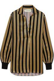 By Malene Birger   Mourci striped satin shirt at Net A Porter