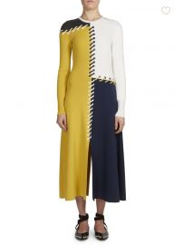 C  dric Charlier - Colorblock Midi Dress at Saks Fifth Avenue