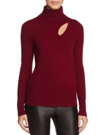 C by Bloomingdale  39 s Cashmere Cutout Turtleneck Sweater red at Bloomingdales