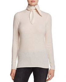 C by Bloomingdale  39 s Cashmere Tie-Neck Sweater beige at Bloomingdales