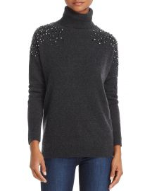 C by Bloomingdales Cashmere Embellished Turtleneck Sweater at Bloomingdales
