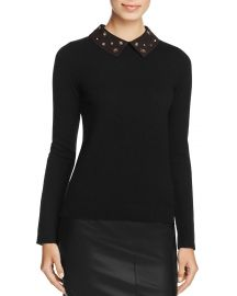 C by Bloomingdales Cashmere Embellished-Collar Sweater at Bloomingdales