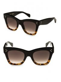 C  line - Havana Rectangular Cat Eye Sunglasses at Saks Fifth Avenue