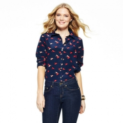 C Wonder Silk Birds in Flight Shirt at C Wonder