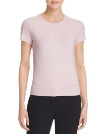 C by Bloomingdale  039 s Short-Sleeve Cashmere Sweater pink at Bloomingdales