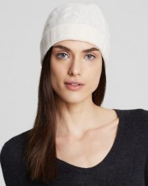 C by Bloomingdaleand039s Cashmere Cable Knit Hat at Bloomingdales