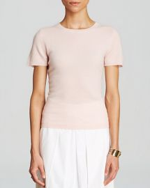 C by Bloomingdaleand039s Short Sleeve Cashmere Sweater in nude at Bloomingdales