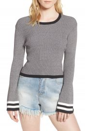 CAARA Bell Sleeve Crop Sweater at Nordstrom