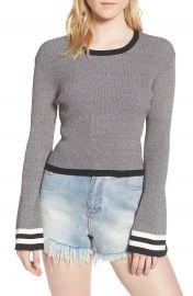 CAARA Bell Sleeve Crop Sweater at Nordstrom